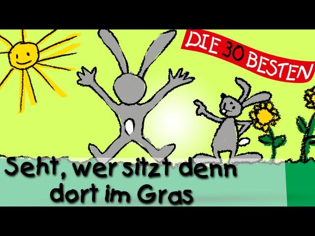 Seht, wer sitzt denn dort im Gras - Die besten Oster- und Frühlingslieder || Kinderlieder