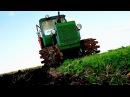 Пахота на тракторе ДТ-75 с 4 корпусами плуга ПЛН. #Tractorspotter vs #СельхозТехника_ТВ