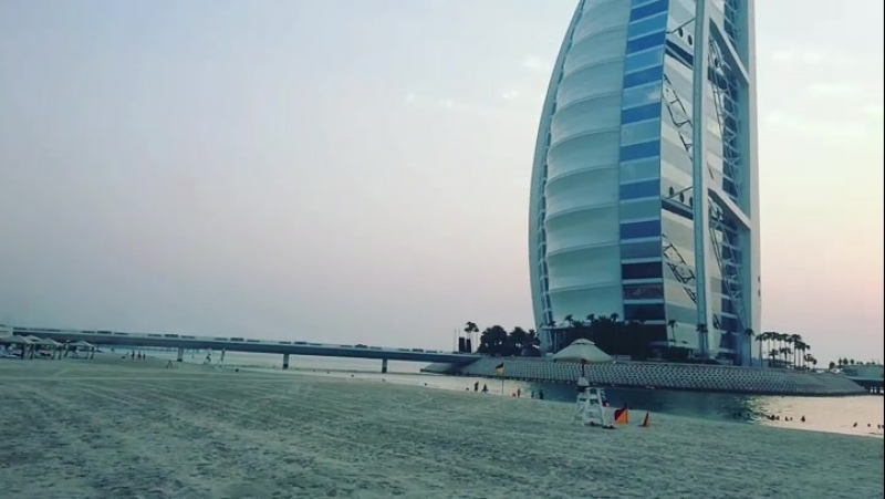 Jumeirah Beach hotel close to Burj Al Arab Dubai OAE