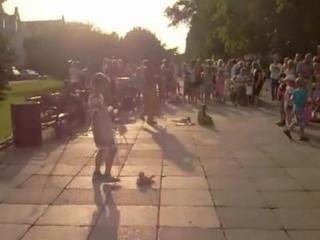 Taniec Wnusi Anusi promenada Świnoujście lipiec 2012