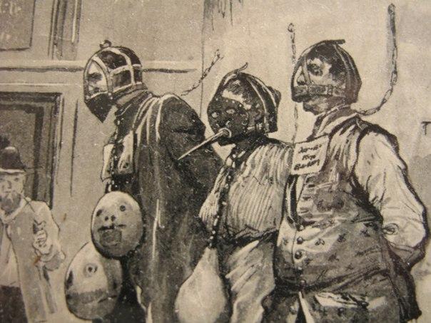 пытки женщин в средневековье, Деревянные бусы