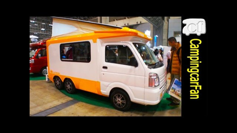 【6WD(ロクダブ)テントむし】 6輪を持つ軽ベースキャンパー Japanese Campingcar Motorhome