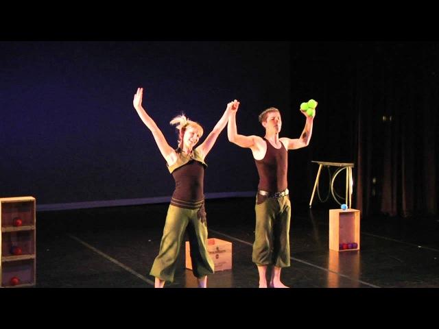 Bri Brian Juggling: Partner Ball Duet Full Version