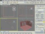 Моделируем кафе в 3Ds Studio MAX® 2009 - Создаем источник света, выставляем камеру и делаем настройк