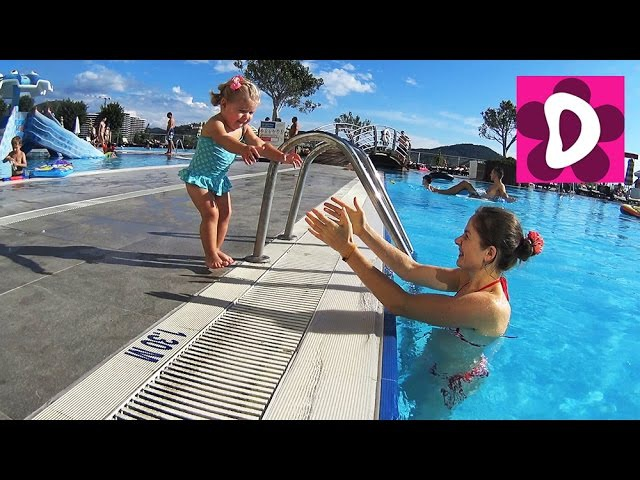 ✿ Турция День 6 Купаемся в Бассейнах Идем в Хамам Swimming and playing in the pool go to the hammam