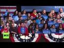 США Сандерс принимает цель на Уолл-Стрит, Трамп и Ректификаторы во время Уосо ралли.