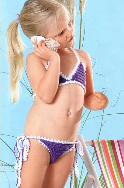 Красивые вязаные купальники и парео крючком для взрослых и детей (схемы и описание)