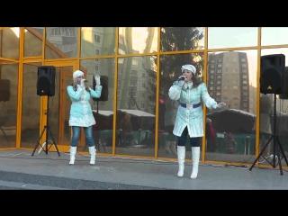 Елизавета Родина и Анна Родина -Рейс на Милан (Новогодняя Ярмарка в Колпино у ТРК Ока) рейс на милан