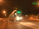 Современный трехсекционный трамвай вышел в свой первый рейс по самарский улицам