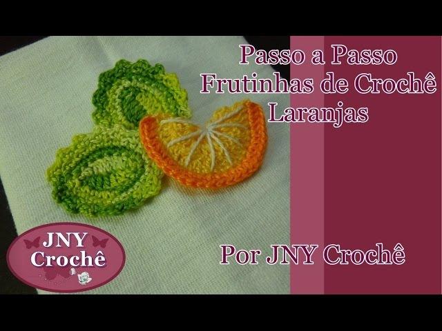 Passo a Passo Frutinhas de Crochê Laranja por JNY Crochê