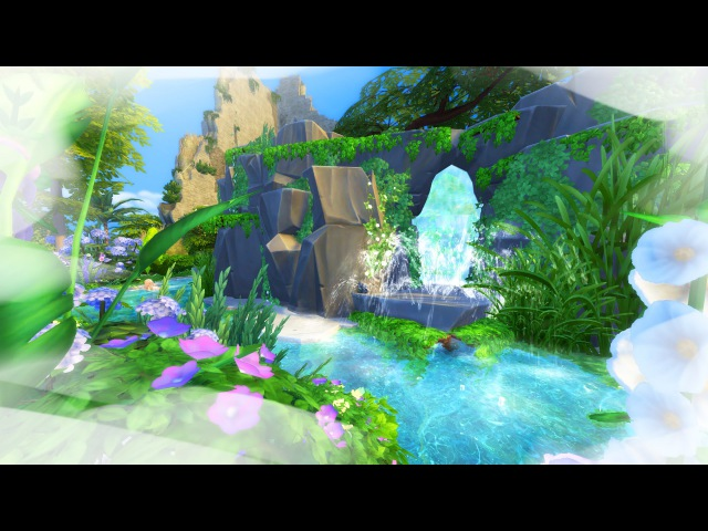 The Sims 4 Building Calypso's Island Cave
