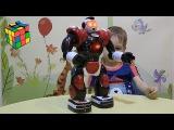 Большой Робот Боец игрушка для детей распаковка. Big Robot Fighting toy for children unpacking.