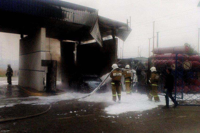 В Джанкое взорвалась газовая автозаправка
