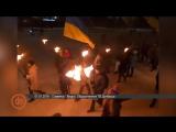 В Славянске день рождения Бандеры отметили факельным шествием