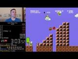 Рекорд в прохождении игры Super Mario Bros. - менее 5 минут