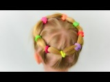 Very lovely and practical hairstyle for little girl. Quick and easy hairstyle 6
