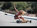 Жесткая подборка аварий с лонгбордами и скейтами,  ДТП, жесть, longboarding fails