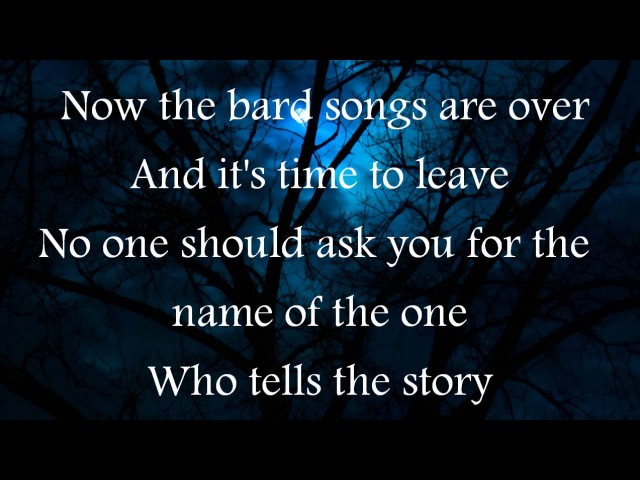 Blind Guardian-The Bards Song (lyrics)