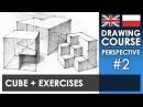 Drawing tutorial - Cube   Kurs rysunku - Sześcian [S01E02 ENG/PL]