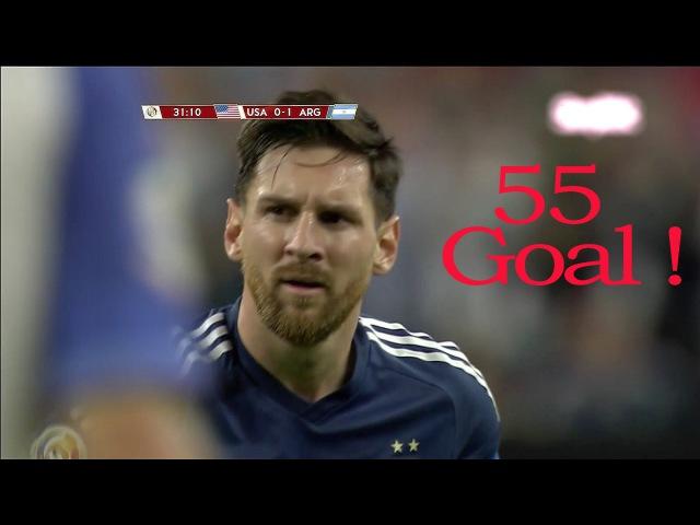 55 - Super Гол Лионеля Месси за сборную Аргентину в Кубке Америки 2016|FULL HD|