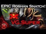 EPIC Roshan Snipe & Aegis Deny by VG.Super vs. Secret Major Dota 2