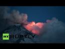 Извержение самого высокого действующего вулкана Европы