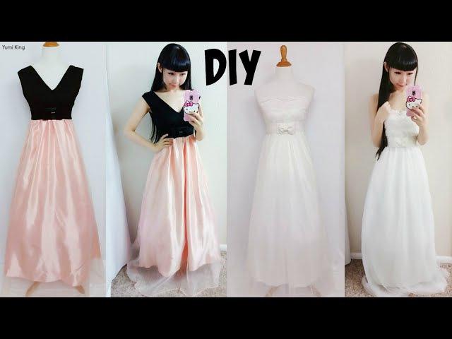 DIY Easy Wedding Dress Prom Dress from Scratch (Floor Length)  DIY Formal Dress