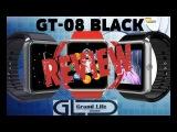 Smart Watch GT-08 BLACK (Китайские смарт часы с aliexpress) обзор-распаковка