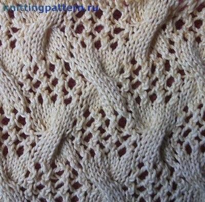 Вязание для начинающих спицами Бантики на ажуре… (2 фото) - картинка