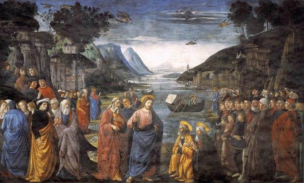 """""""Призвание первых апостолов"""" - Доменико Гирландайо, 1481. Одна из двенадцати нас..."""