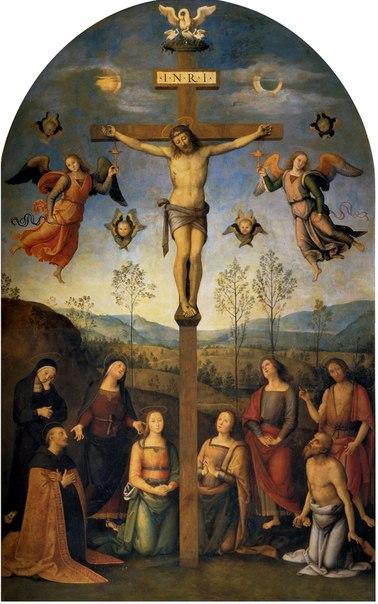 """""""Распятие"""" - Пьетро Перуджино, 1506-07, Церковь святого Августина, Сиена"""