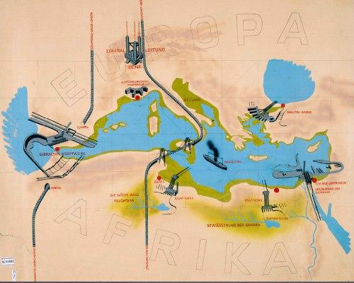 атлантропа - безумный немецкий проект по объединению европы и африки атлантропа, или, как ее иногда называют, панропа - это утопический проект немецкого архитектора зёргеля по сращиванию южной