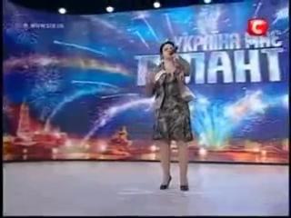 Украина ищет таланты. Вот это голос. Поет слепая девушка