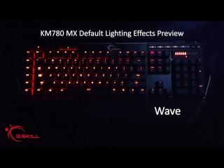 G.SKILL KM780 MX Keyboard Lighting Preview