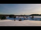 Поход в заброшеную Деревню Зимой на лыжах! Охота,Рыбалка,Тайга,Река.
