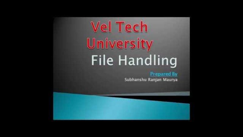 File Handling in c Programming langauge