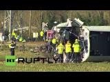 Нидерланды: Один убит, несколько человек получили ранения после того, как поезд сошел с рельсов в районе Далфсен.