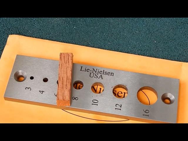 Пластина для изготовления шкантов Lie-Nielsen Dowel Plate