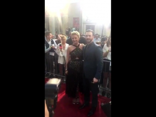 Emily VanCamp and Chris Evans from Entertainment Tonight's snapchat story