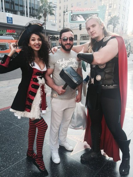 Khadzimurat Zoloev / Khadzhimurat Zoloev in Hollywood next to Thor holding the Mjölnir - Thor's Hammer, Los Angeles │ Photo Source: Khadzhimurat Zoloev