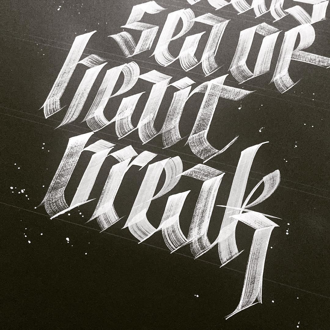 Fraktur Analysis Calligraphy