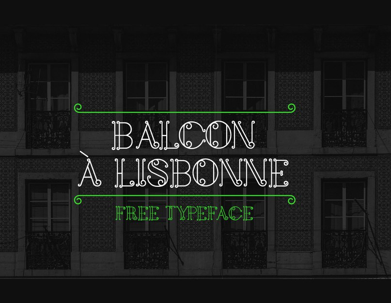 Шрифт balcon a lisbonne