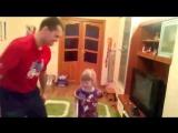 Тренировка с ребенком ( отработка защитных действий )