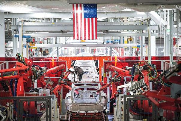 автоматизированный завод Tesla