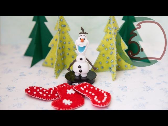 Как сделать елку для кукол. How to make Christmas Tree for dolls.