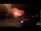 Тушение горящего киоска в Омске