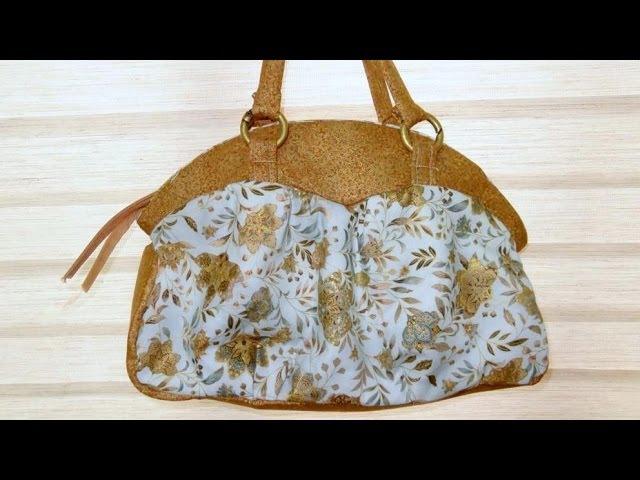 Aula em vídeo de bolsa de tecido Micaela II. Fabric bag. Make a fabric bag. Fabric bag video