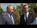 Russia: Putin and Medvedev visit the Great Mithridates Staircase in Kerch