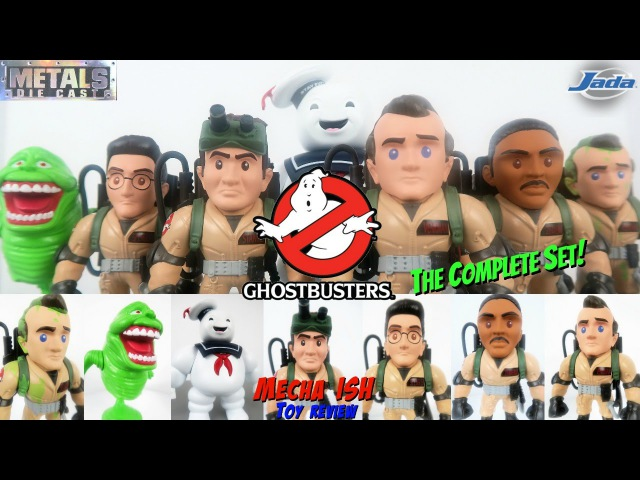 Metals Die Cast GHOSTBUSTERS Complete Set! STAY PUFT, SLIMER Jada Toys Collectible Figure Review