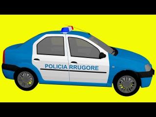 Akıllı Arabalar - Polis Arabası, Kamyon, Yarış Arabaları, Vinç   Çizgi Film - Eğlenceli çocuk filmi